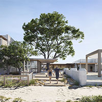 Artist Rendered Impression of exterior of Hotel Rottnest