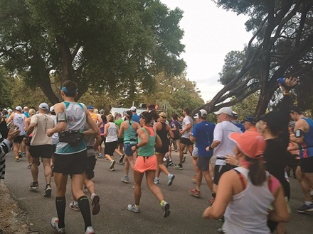 Brooks Marathon start line on Rottnest Island