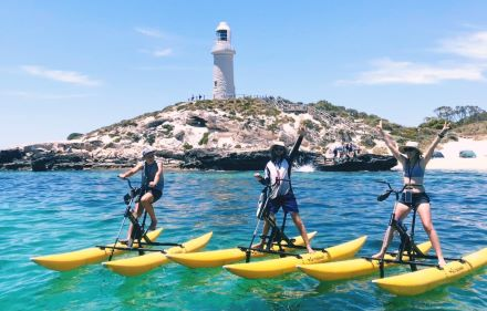 People on seabikes on Rottnest Island