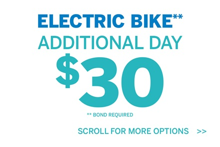 Electric Bike Additional Day $30