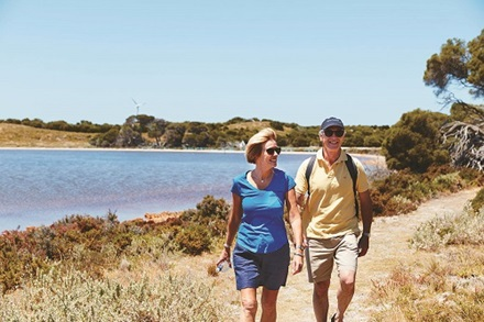 older couple on wadjemup walk trail