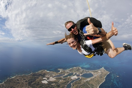 Skydive Geronimo on Rottnest Island