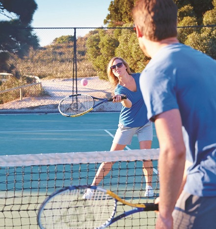 Tennis on Rottnest Island
